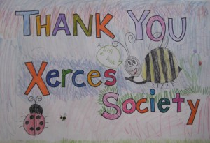 "A ""Thank You"" for Xerces decorated by Carrolls students."