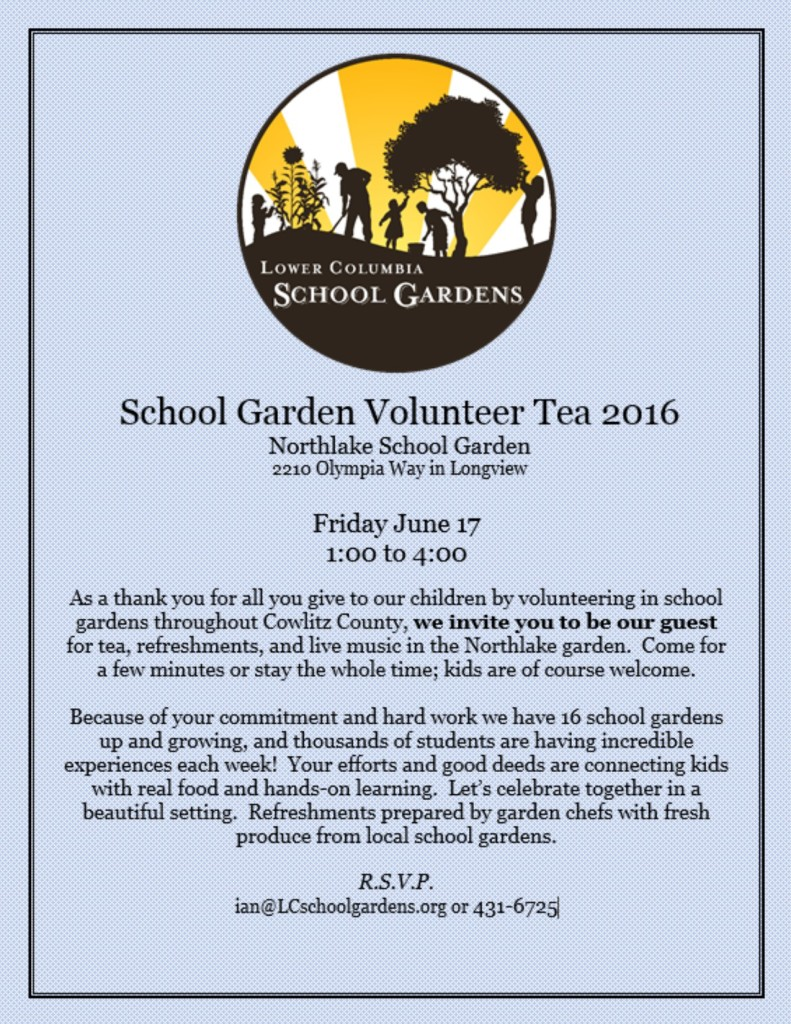Volunteer Tea Invite 2016